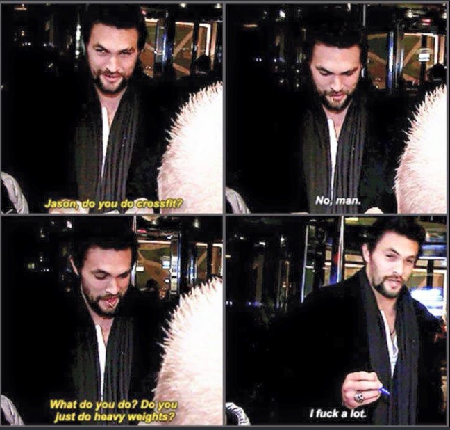 how momoa stays fit!