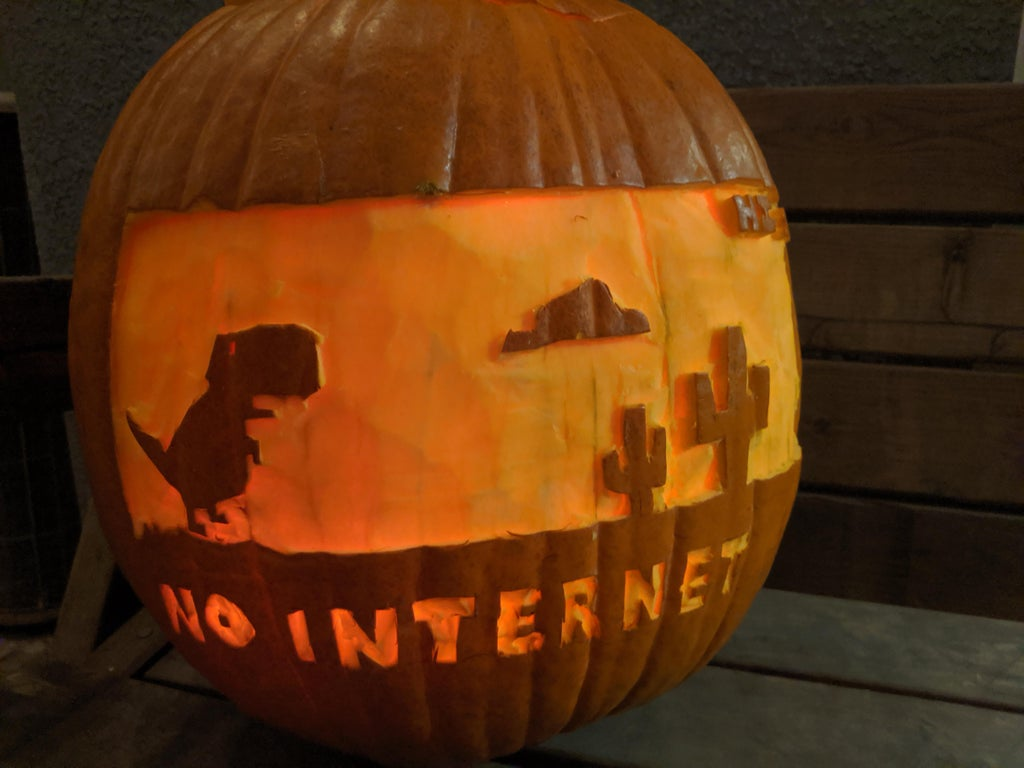 NO INTERNET pumpkin